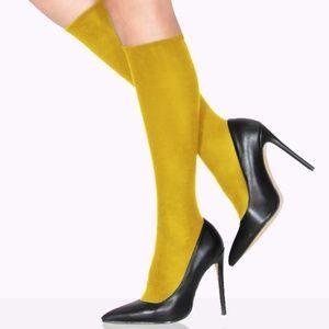 Accessories - Mustard Yellow Knee High Socks